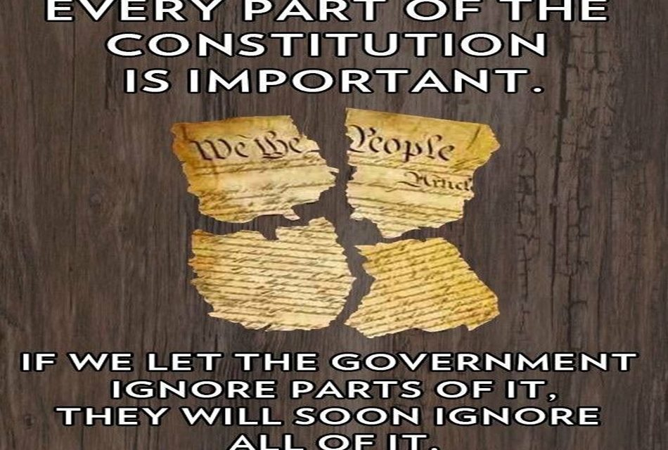 Ignore the Constitution and We Will Lose